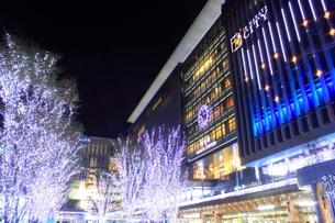 JR博多シティのイルミネーション夜景の写真素材 [FYI00176024]