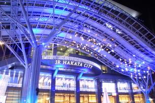 JR博多シティのイルミネーション夜景の写真素材 [FYI00176025]