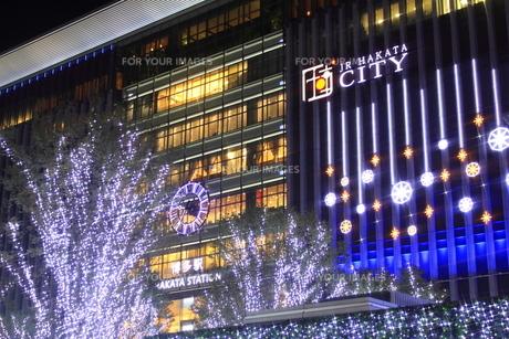 JR博多シティのイルミネーション夜景の素材 [FYI00176033]