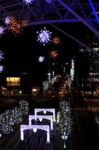 JR博多シティのイルミネーション夜景の写真素材 [FYI00176053]