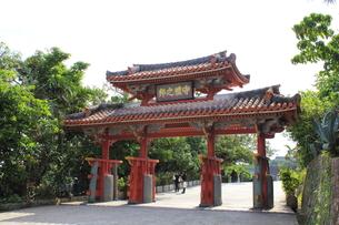 首里城 守礼門の写真素材 [FYI00176089]