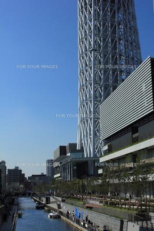 東京スカイツリーと東京ソラマチの写真素材 [FYI00176192]