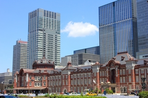 東京駅の写真素材 [FYI00176233]