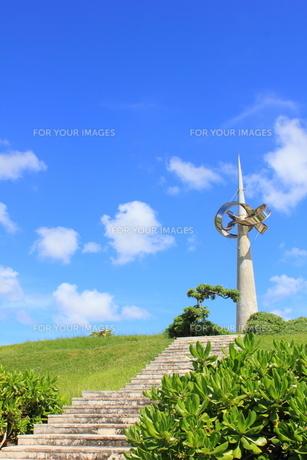 沖縄 平和記念モニュメントの素材 [FYI00176343]
