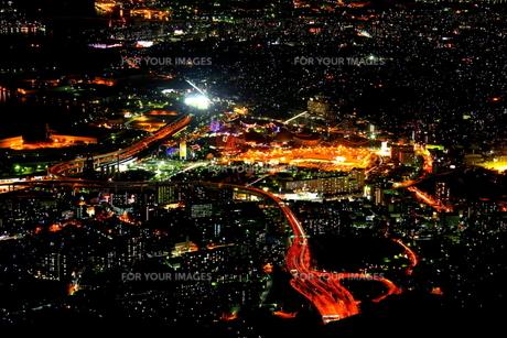 北九州市 皿倉山夜景 100億ドルの夜景の素材 [FYI00176364]