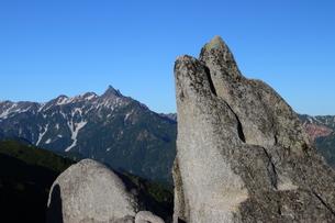 イルカ岩と槍ヶ岳の写真素材 [FYI00176432]