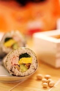 節分巻き寿司の写真素材 [FYI00176478]