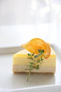 2層のムースケーキの写真素材 [FYI00176503]