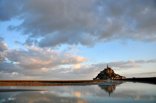 Mont St Michel Morning Viewの写真素材 [FYI00176729]