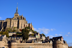 Mont St Michel Side Viewの写真素材 [FYI00176734]