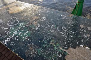Hong Kong Harbour Graffitiの写真素材 [FYI00176738]