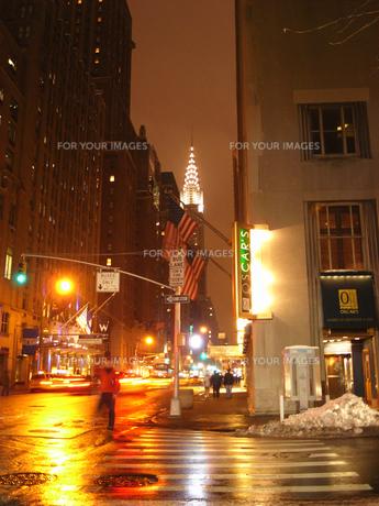 夜のマンハッタンの写真素材 [FYI00176752]