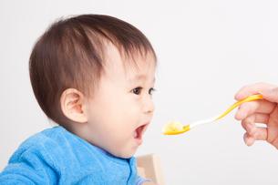 赤ちゃんの離乳食の写真素材 [FYI00176849]