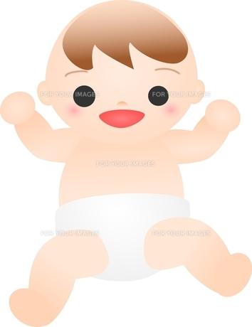 笑う赤ちゃんの写真素材 [FYI00176993]