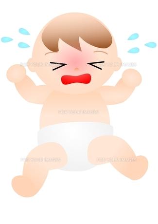 泣いている赤ちゃんの写真素材 [FYI00176995]