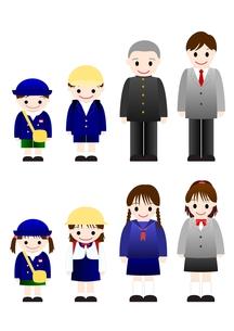 制服姿の子どもたちの写真素材 [FYI00176997]