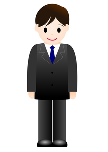 スーツの男性の素材 [FYI00177004]