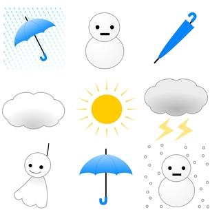 天気予報の素材 [FYI00177024]