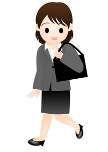スーツの女性 通勤の写真素材 [FYI00177041]