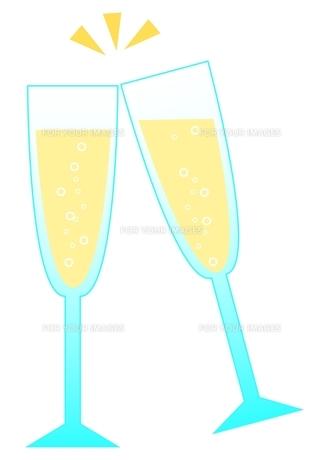 シャンパンの素材 [FYI00177080]