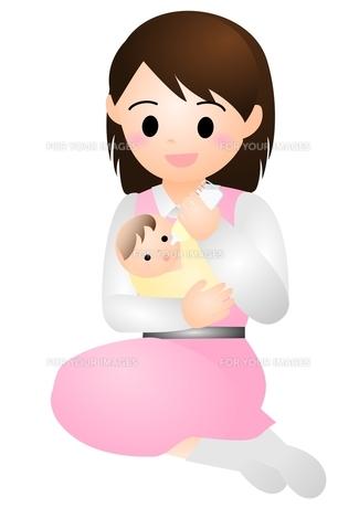 赤ちゃんとママの素材 [FYI00177089]