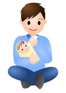 赤ちゃんとパパの素材 [FYI00177097]