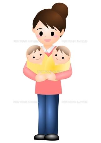 双子の赤ちゃんの写真素材 [FYI00177099]