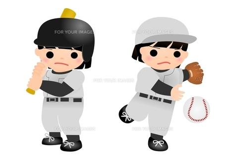 野球 女の子の写真素材 [FYI00177153]