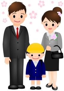 入学式 家族 男の子の素材 [FYI00177162]