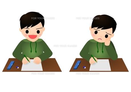 テスト 男の子 小学生の素材 [FYI00177181]
