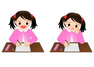 テスト 女の子 小学生の写真素材 [FYI00177190]