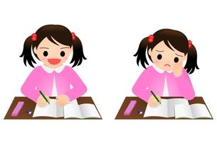 勉強 女の子 小学生の素材 [FYI00177193]