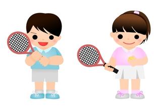 テニス こどもの写真素材 [FYI00177199]