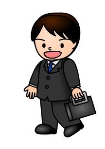 ビジネスマン 鞄の素材 [FYI00177220]