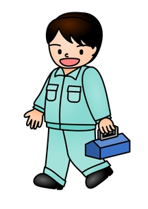 作業員 歩くの写真素材 [FYI00177290]