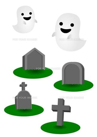 お墓 幽霊の素材 [FYI00177310]