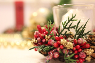 クリスマステーブルの素材 [FYI00177369]