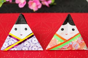 折紙のひな人形の写真素材 [FYI00177434]