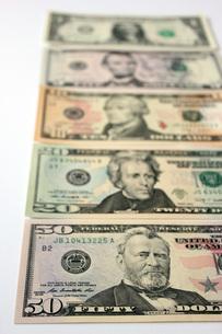 USドル紙幣の写真素材 [FYI00177444]