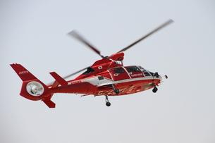 名古屋市消防局の赤いヘリコプターの写真素材 [FYI00177476]