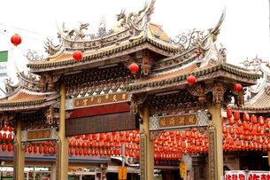 旧正月 ランタン 台湾 天后宮の写真素材 [FYI00177576]