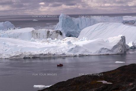 イルリサット アイスフィヨルド グリーンランドの写真素材 [FYI00177601]