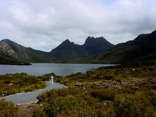 オーストラリア タスマニアのクレイドル山国立公園 (Cradle Mountain National Park)にあるドブ湖の素材 [FYI00178179]