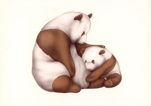 パンダの親子の写真素材 [FYI00178435]