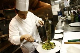 イタリアの料理人の写真素材 [FYI00178718]