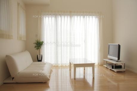 リビングルームのテレビコーナーの写真素材 [FYI00179291]