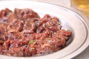 ジンギスカンの焼き肉の写真素材 [FYI00179339]