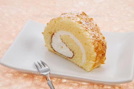 ロールケーキの写真素材 [FYI00179677]