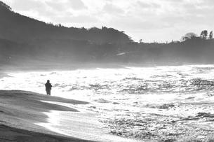 冬の日本海で釣りの写真素材 [FYI00179914]