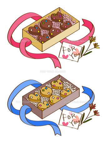 チョコレートとクッキーの贈り物の写真素材 [FYI00180057]